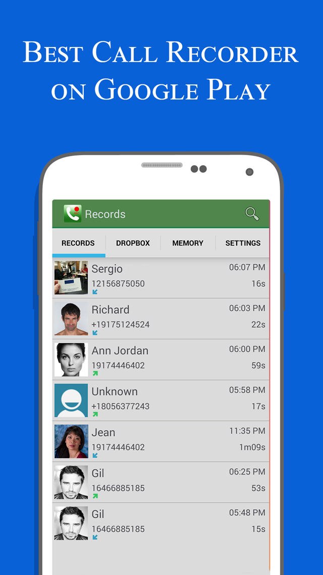Call Recorder Google Play App